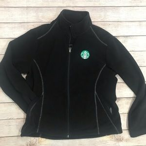 Fossa brand Starbucks logo fleece jacket Large